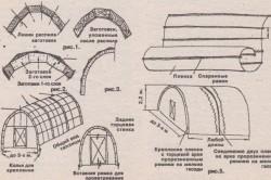 Схема монтажа пленочной теплицы