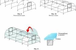 Схема покрытия теплицы листами поликарбоната