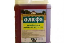 Олифа для пропитки древесины