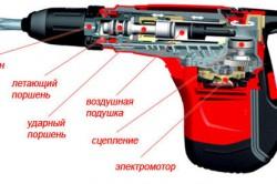 Схема L-образного перфоратора с поперечным расположением двигателя