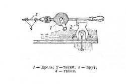 Устройство из ручной дрели