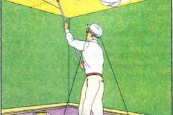 Окраска потолка полосами