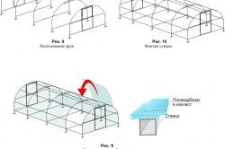 Монтаж теплицы из поликарбоната